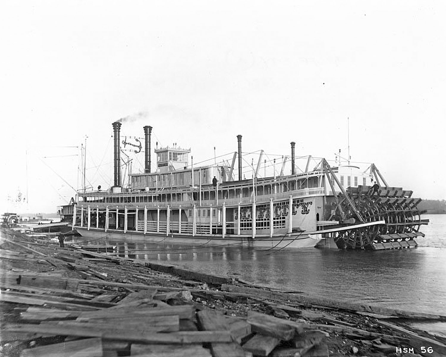 The Bluff City as a new boat at the Howard Shipyard in 1896. (Keith Norrington collection)