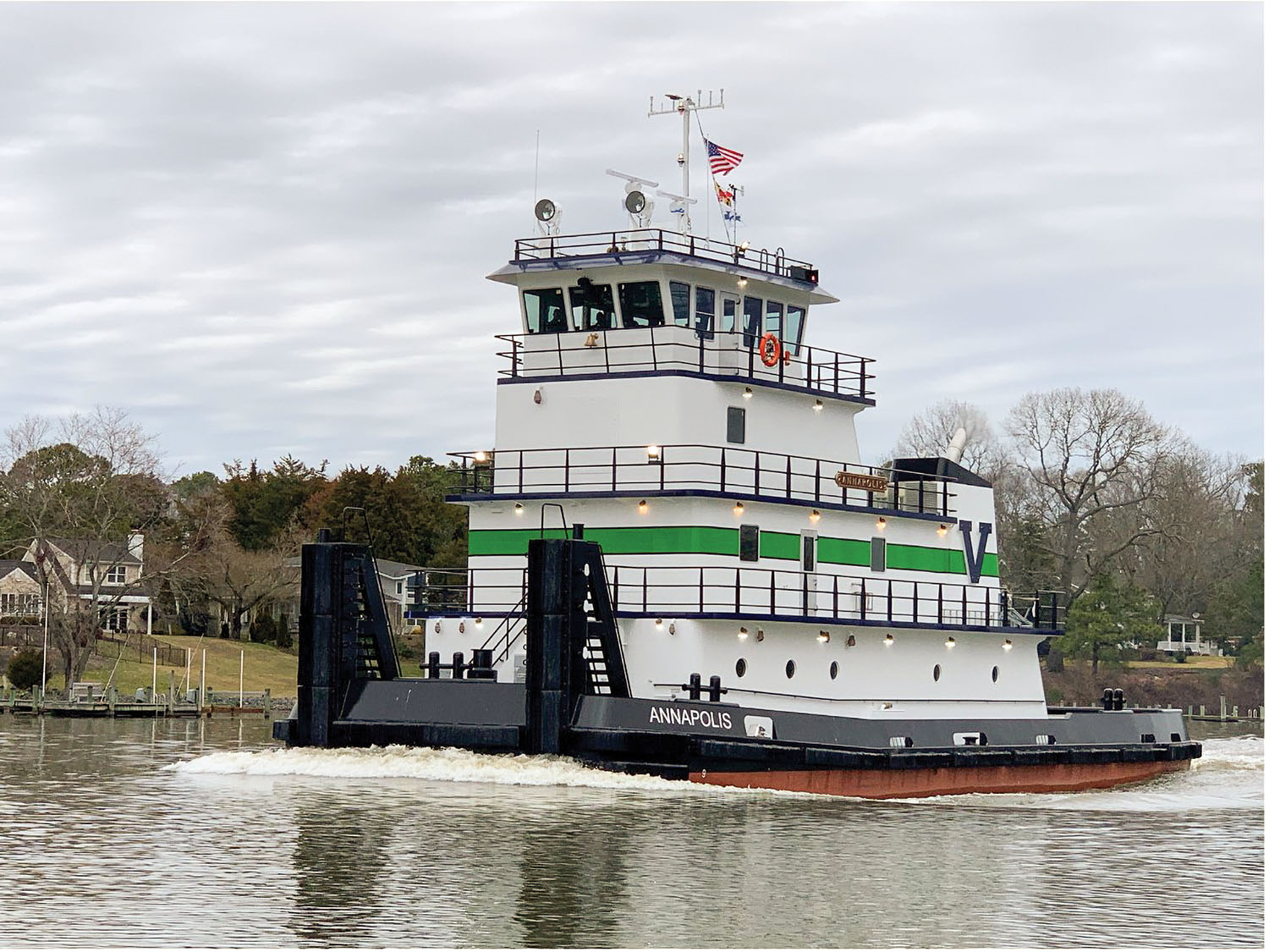 3,000 hp. towboat was built by Chesapeake Shipbuilders in Salisbury, Md.