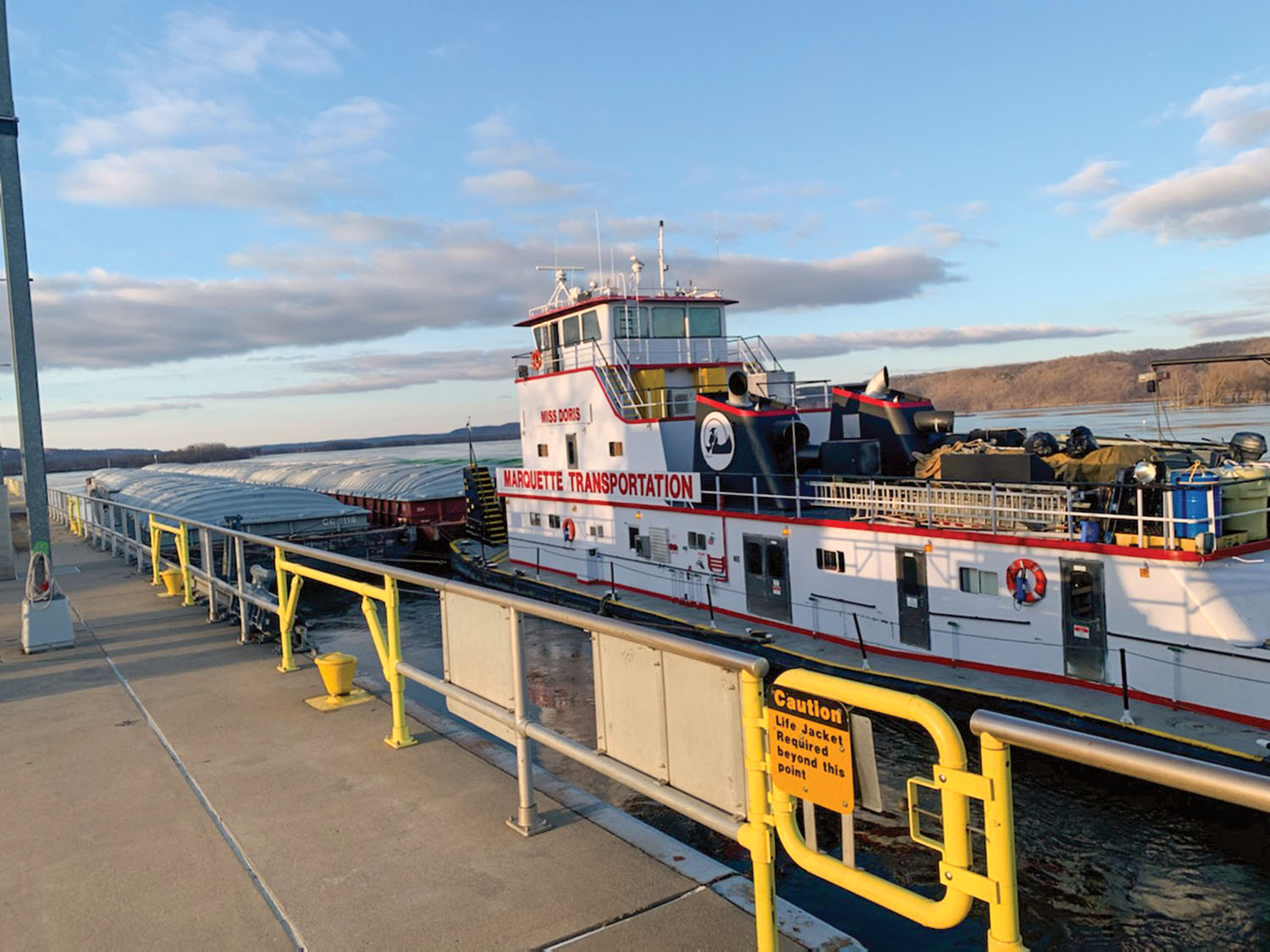 First Tow Of Season Transits Lake Pepin