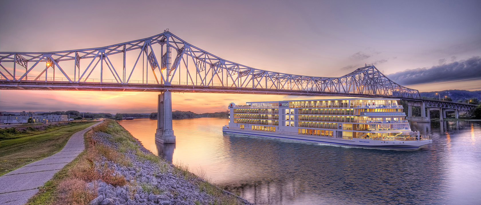 Artist's rendition of the Viking Mississippi (from Viking River Cruises website)