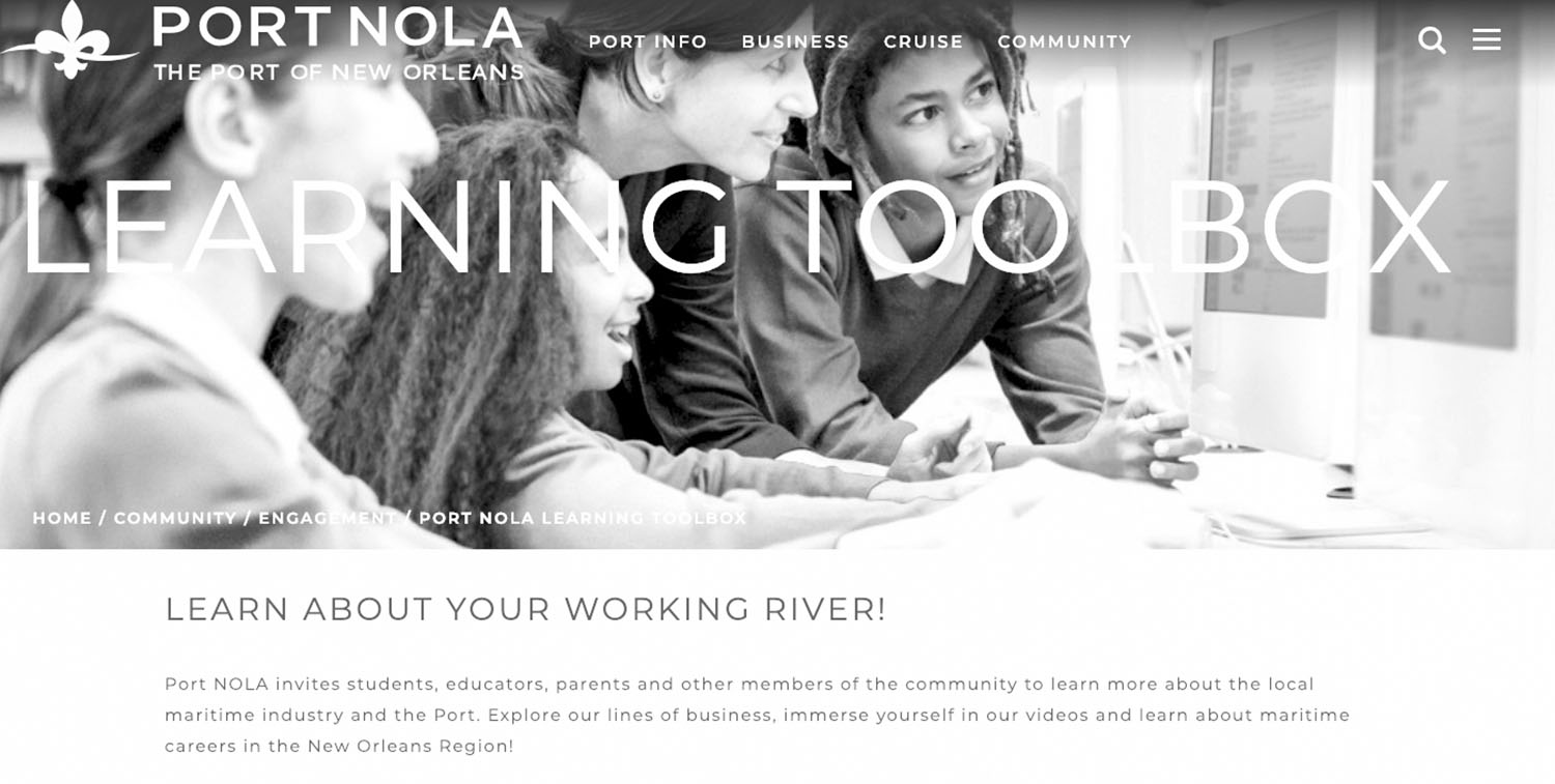Port NOLA Launches Digital Learning Resources For Out-Of-School Students
