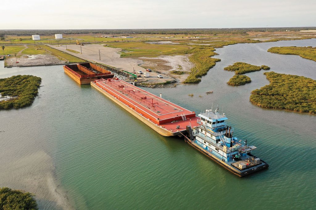 Formed in 2016 at Rockport, Texas, the new facility has already handled more than 110,000 tons of cargo. (Photo courtesy of Rockport Terminals)