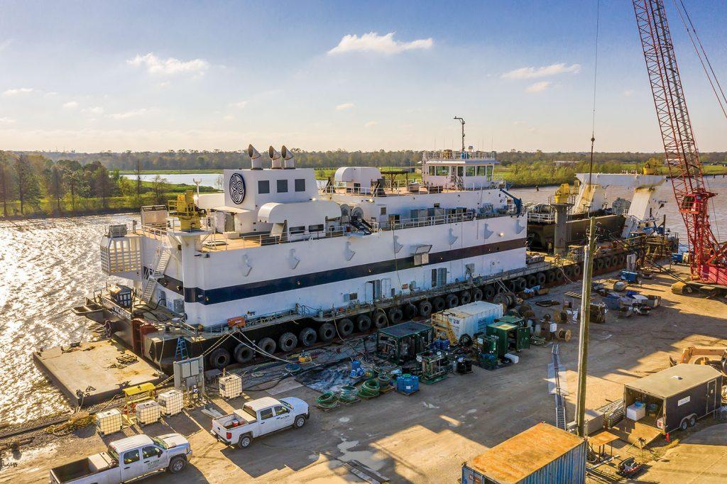 Cutter suction dredge General MacArthur was built by C&C Shipyard.