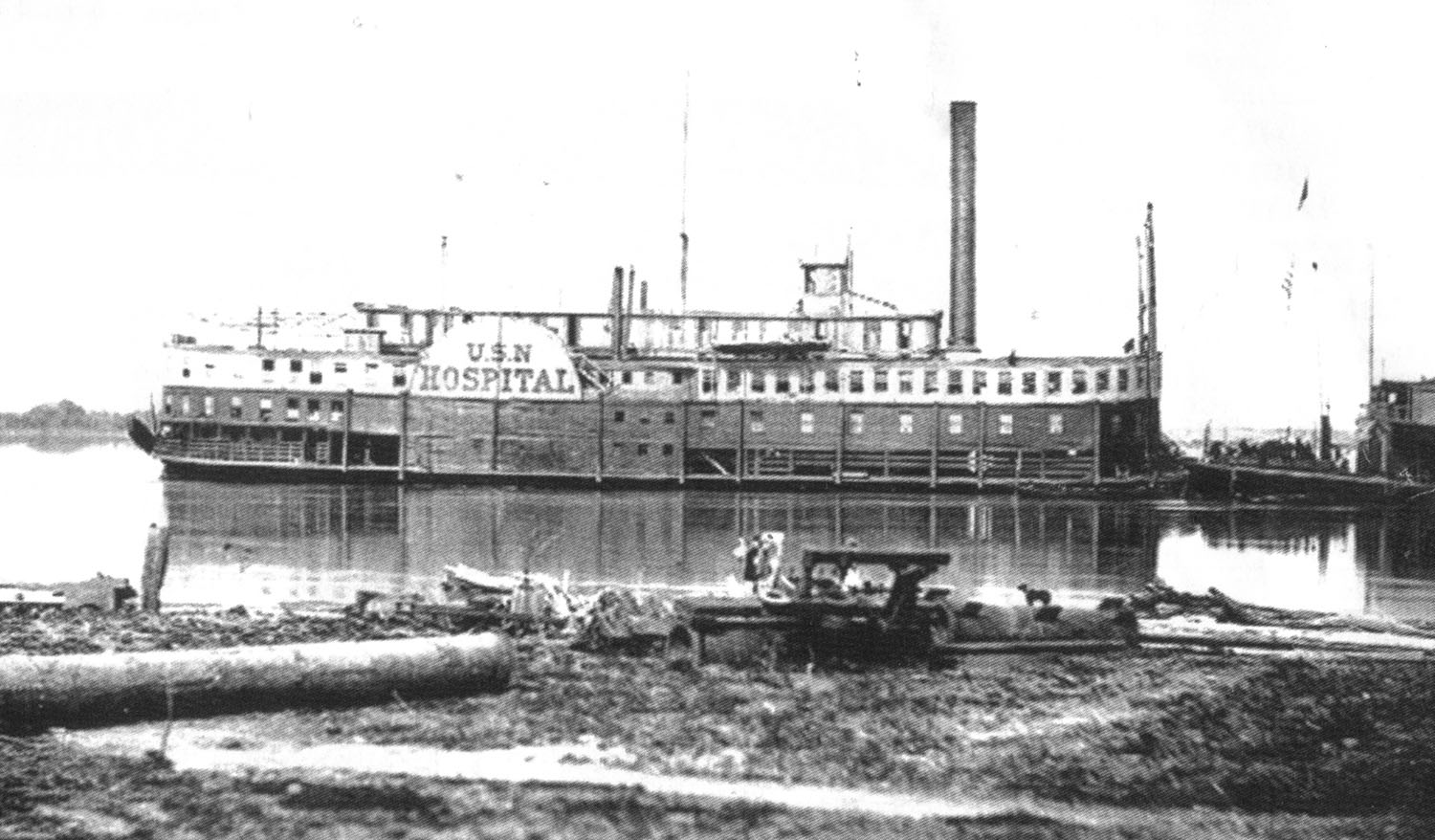 Caption for photo: The U.S. Hospital steamer Red Rover. (Keith Norrington collection)