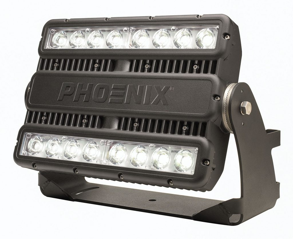 The ModCom 2 LED floodlight from Phoenix Lighting.