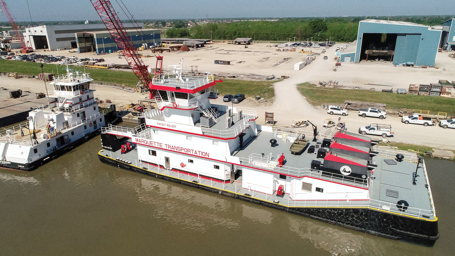 Marquette Transportation offered C&C Marine & Repair the opportunity to name the last vessel of a five-boat series that C&C built for Marquette. The vessel will carry the name of Randy Mauer, C&C's manager of boatbuilding. (Photo courtesy of C&C Marine & Repair)