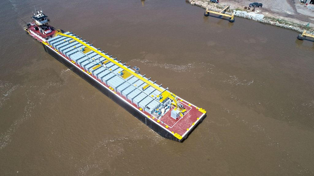 Vessel Repair delivered the third of five 11,500-barrel tank barges to Devall. (Photo courtesy of Devall Towing & Boat Service of Hackberry LLC)