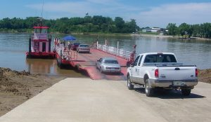 —Photo by Keith Todd/Kentucky Transportation Cabinet The Cave-in-Rock Ferry carries roughly 500 vehicles a day between Crittenden County, Ky., and Hardin County, Ill.