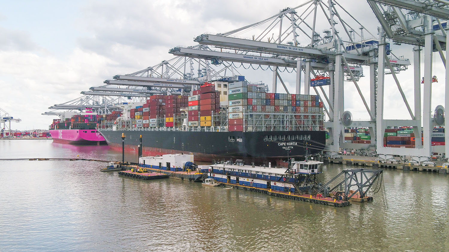 Container Slowdown Allows Acceleration Of Savannah Harbor Dredging