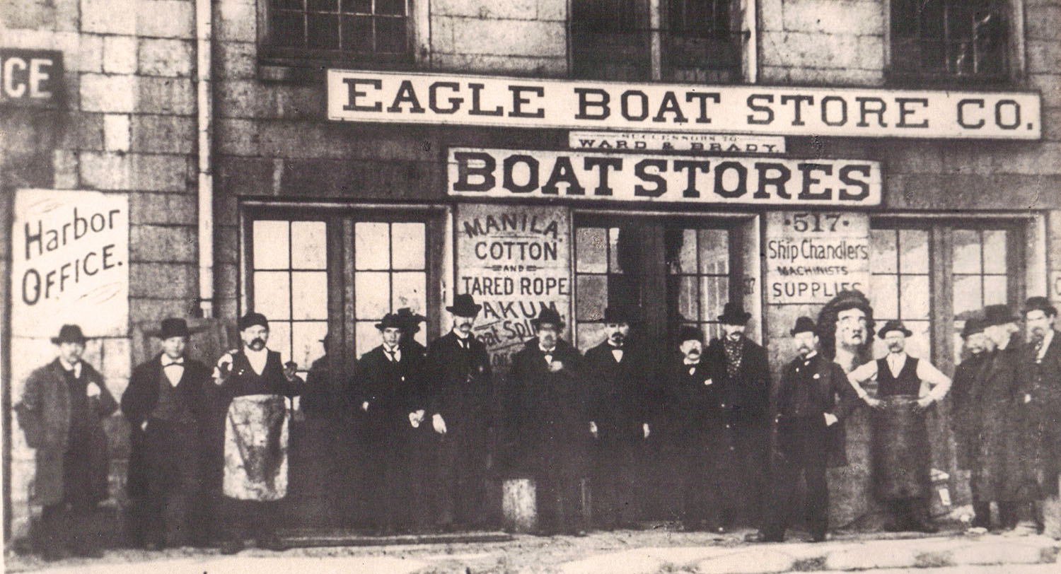 The Eagle Boat Store on the St. Louis waterfront. (Keith Norrington collection)