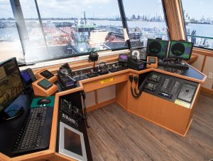 Wheelhouse of the mv. Daniel Wisner.