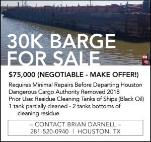 30k Barge For Sale