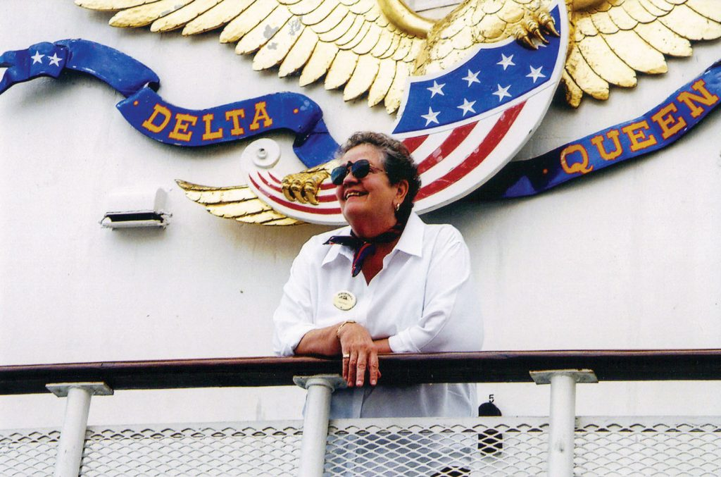 Jane Greene aboard the Delta Queen in 2002. (Keith Norrington collection)