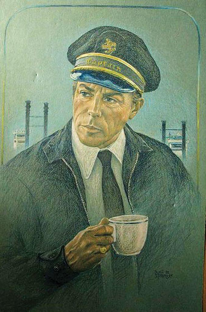 Portrait of Capt. Doc Hawley by Capt. Lexie Palmore.