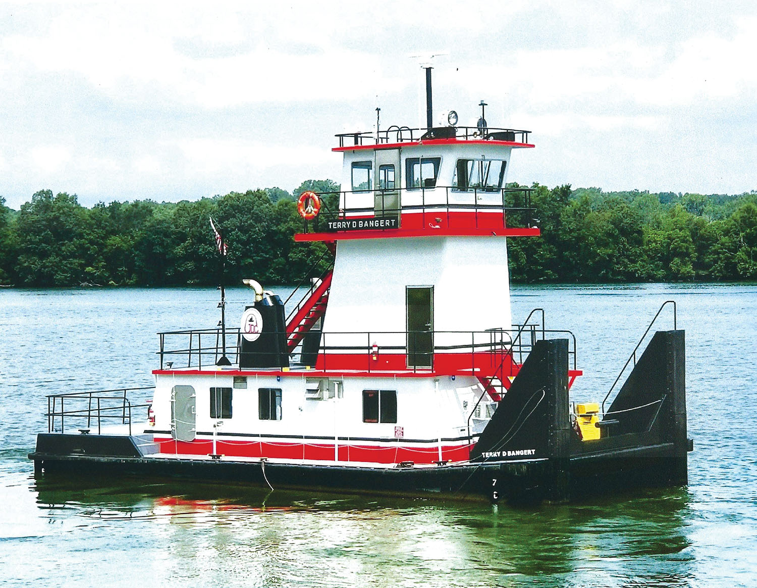 The 1,500 hp. mv. Terry D. Bangert is the seventh towboat in the fleet of Gateway Dredging & Contracting LLC. (Photo courtesy of Serodino Inc.)