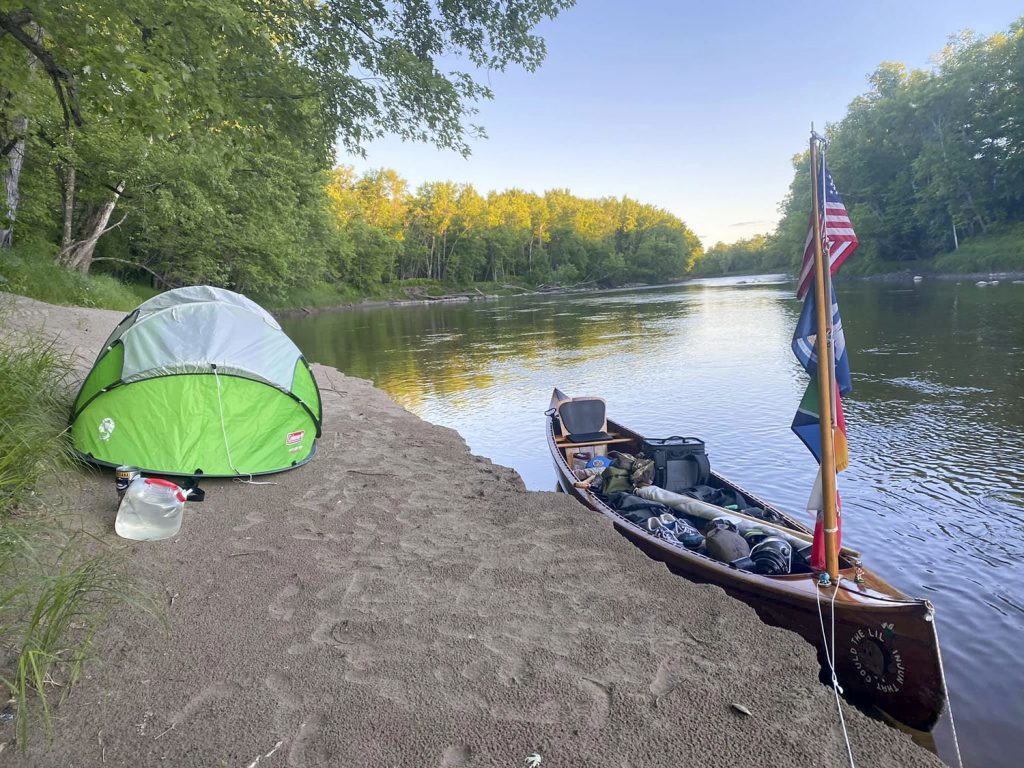 Camping on the bank of the Upper Mississippi River (Photo courtesy of Joey Cargol)