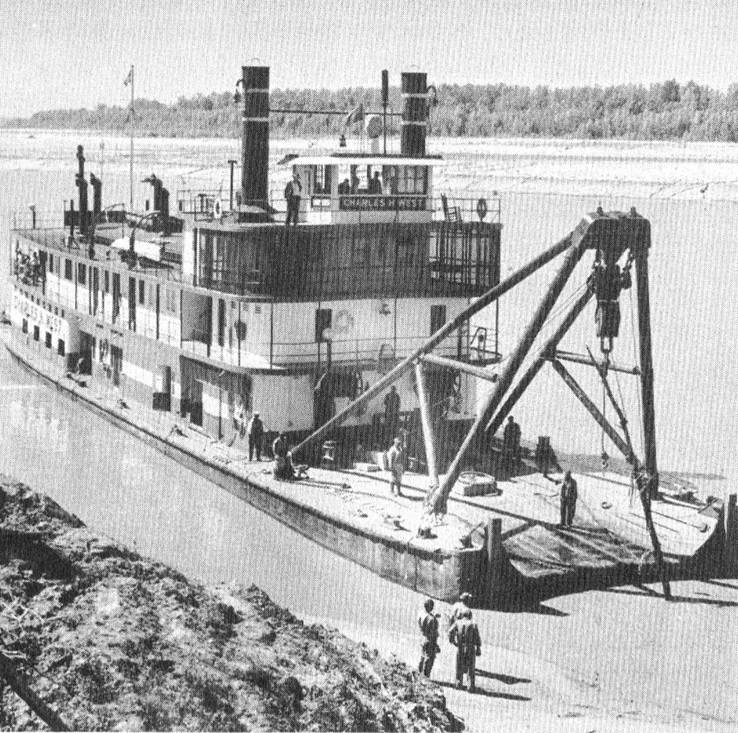 The Charles H. West on the Lower Mississippi River. (Keith Norrington collection)