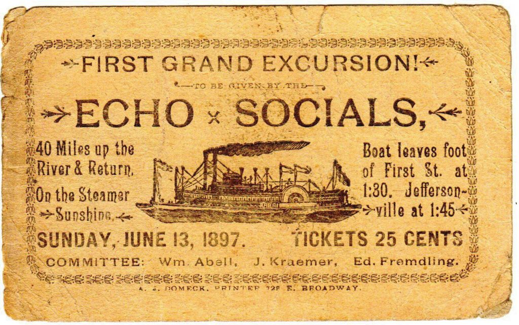 Advertising card for 1897 excursion from Jeffersonville, Ind.(Keith Norrington collection)