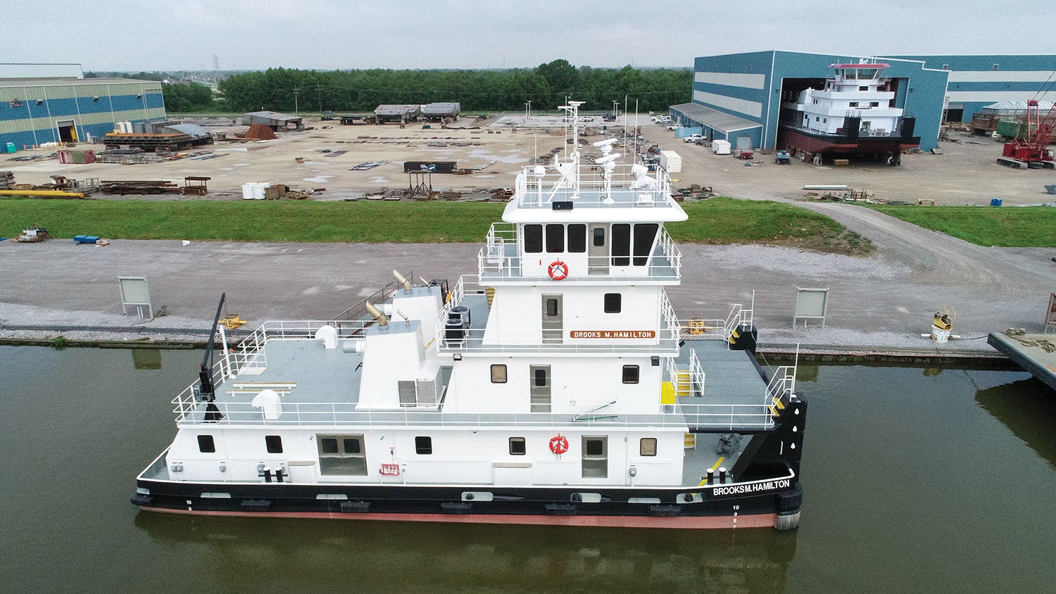 The mv. Brooks M. Hamilton is the second of 15 boats C&C Marine & Repair is building for Maritime Partners LLC. (Photo courtesy of C&C Marine & Repair)