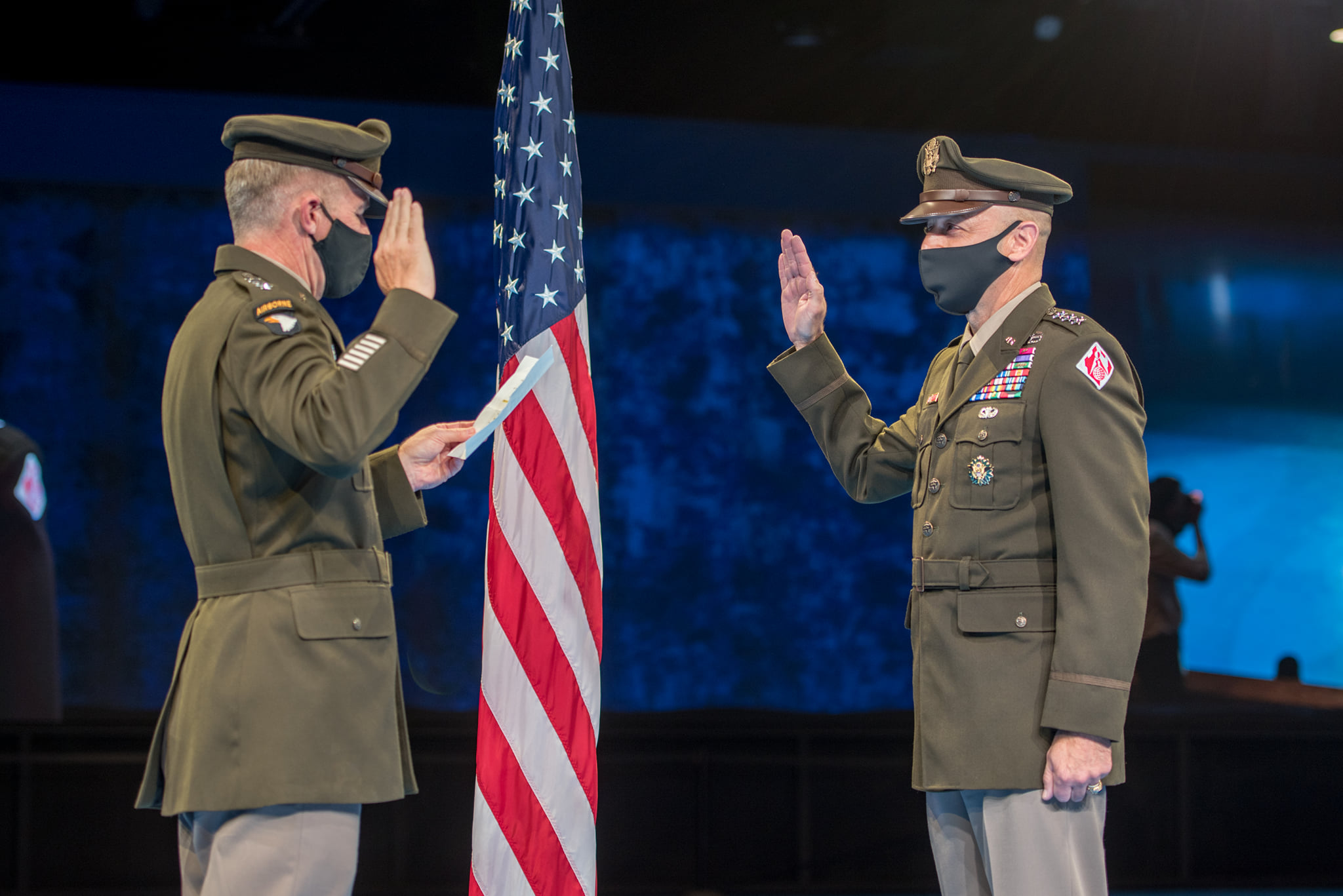 Lt. Gen Scott Spellmon was sworn in as Chief of Engineers September 10 in a change of command ceremony, replacing Lt. Gen. Todd Semonite, who retired. (Corps of Engineers photo)