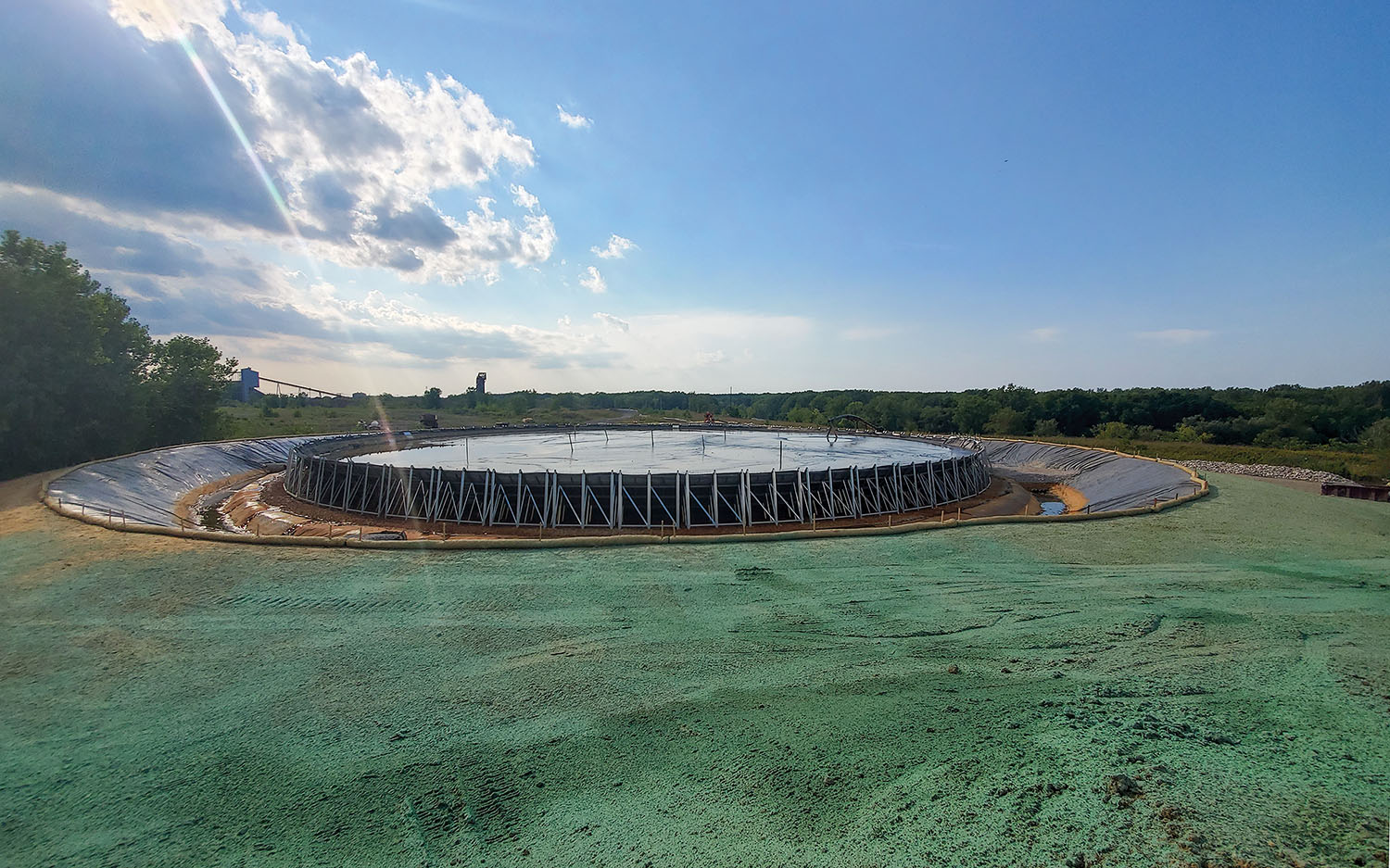 The Lorain Geopool is designed to hold 5,000 cubic yards of material. (Photo by Corry Platt, Coldwater Consulting LLC)