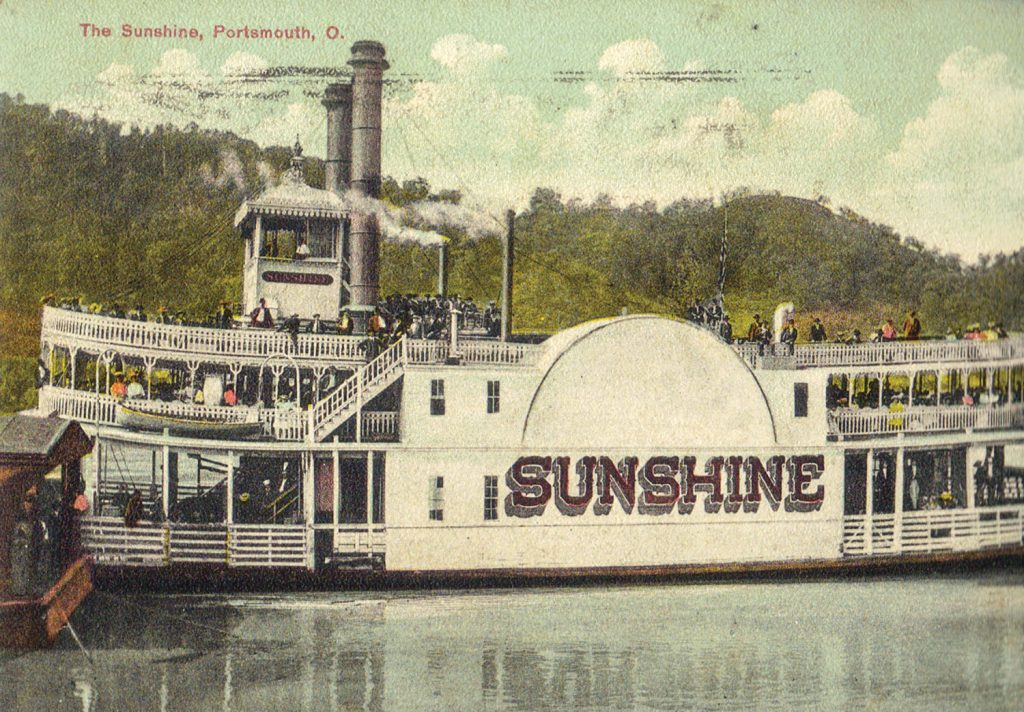 A recently discovered vintage postcard of the Sunshine, postmarked 1910 at Portsmouth, Ohio.(Keith Norrington collection)