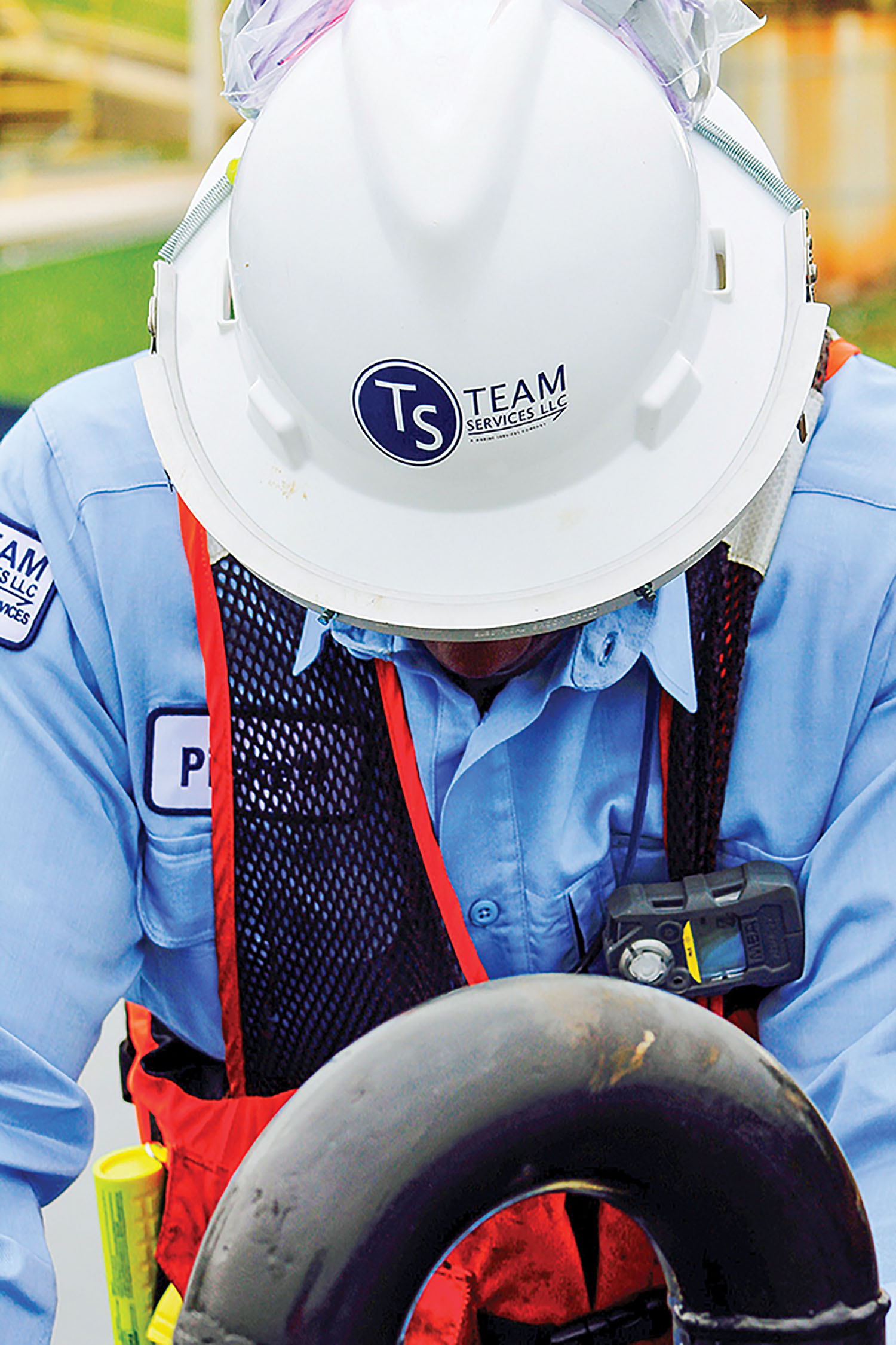 A Team Services tankerman at work. (Photo courtesy of Team Services)