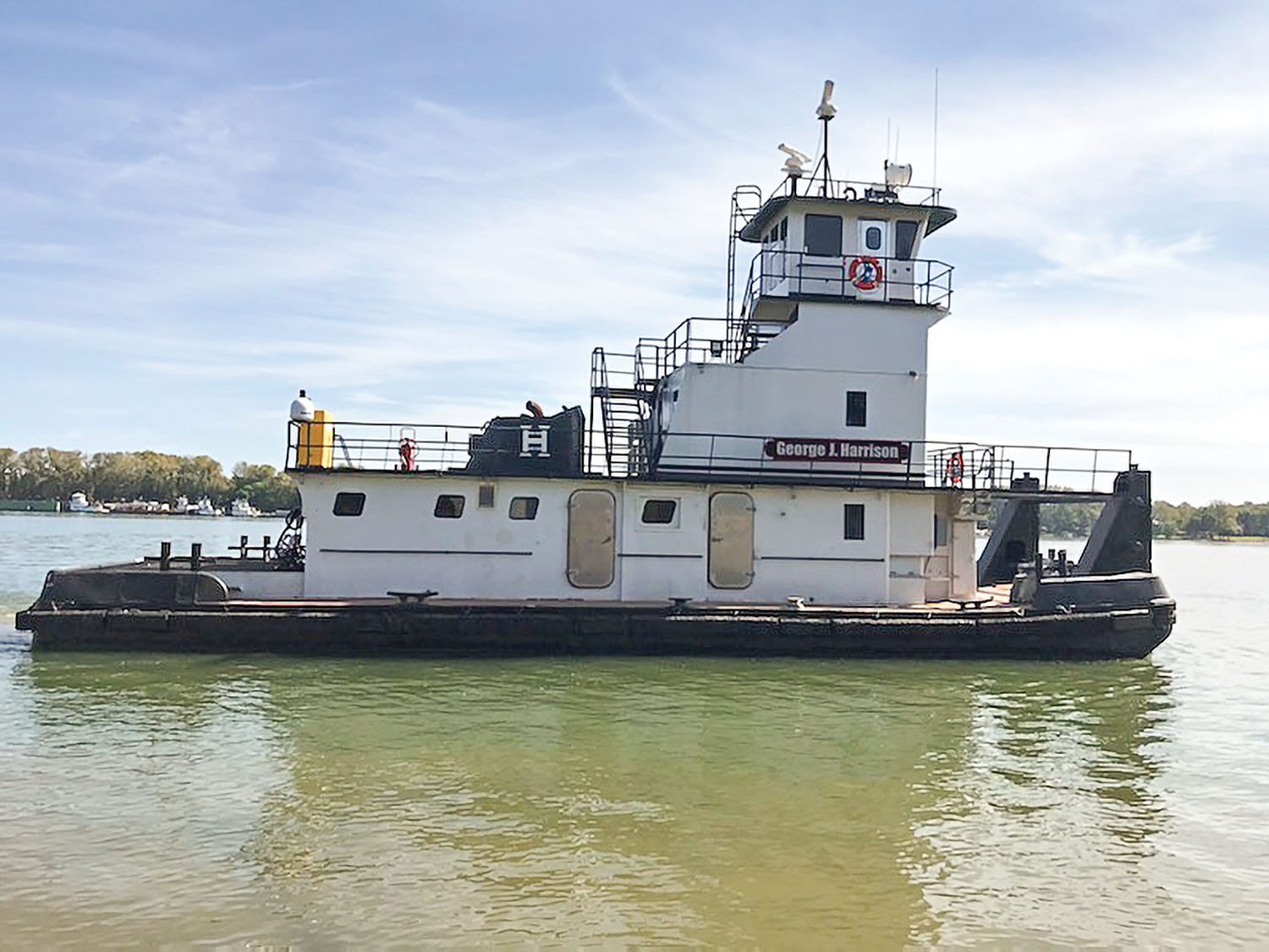 Bellaire Harbor Service expects to accept delivery soon of the mv. George J. Harrison, named after the 16-year-old son of Bob Harrison, president and owner. (Photo courtesy of Bellaire Harbor Service)