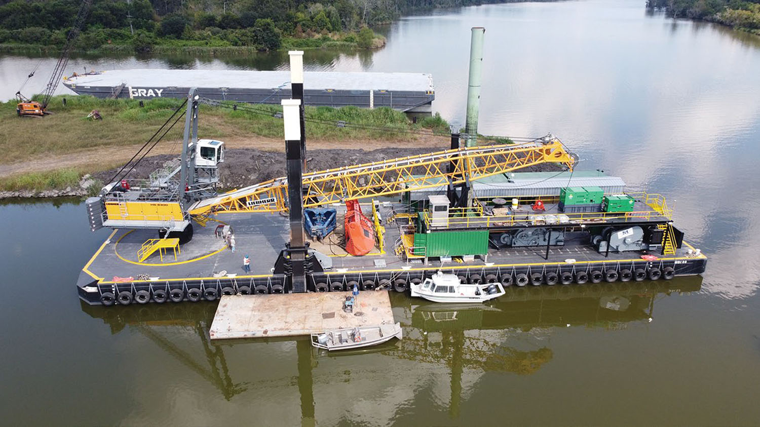Matthews Brothers Puts New Dredge Barge To Work