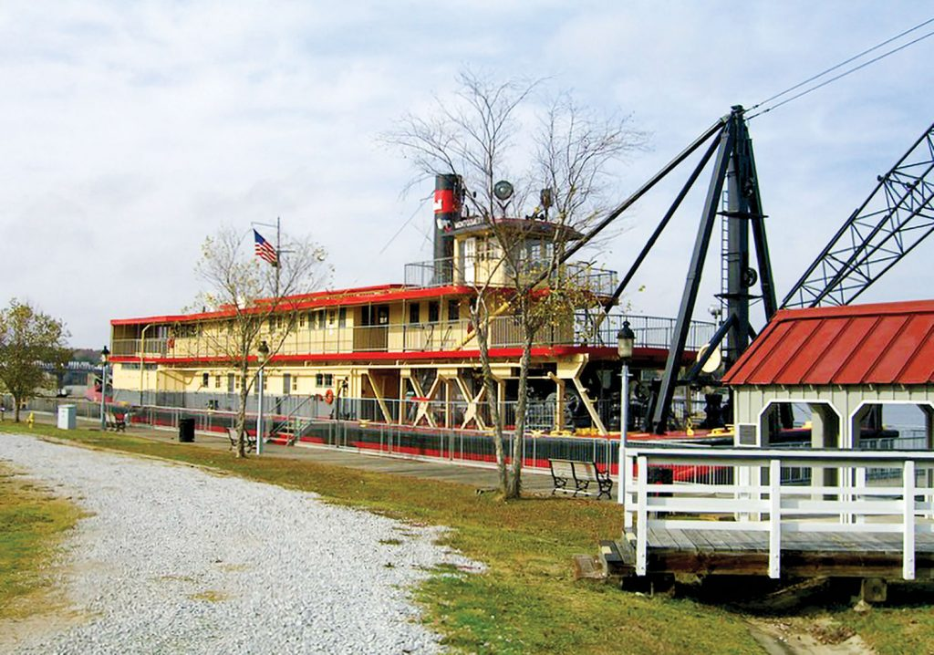 The snagboat as it currently looks as a museum at Pickensville, Ala. (Keith Norrington collection)