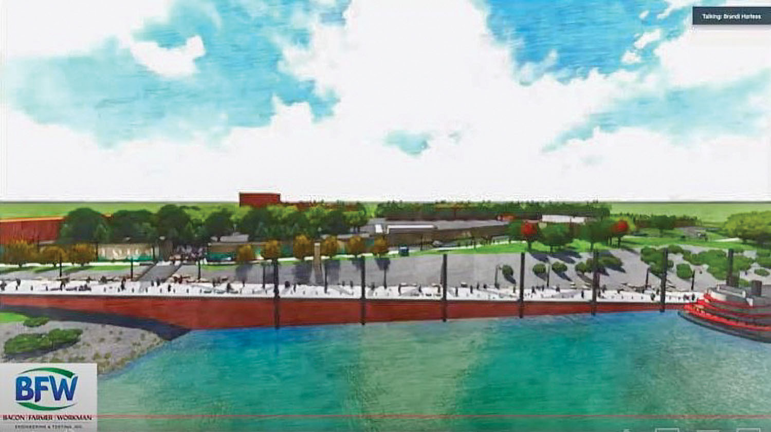 Concept art shows a potential design for a new riverboat landing in Paducah, Ky. (Photo courtesy of the City of Paducah)