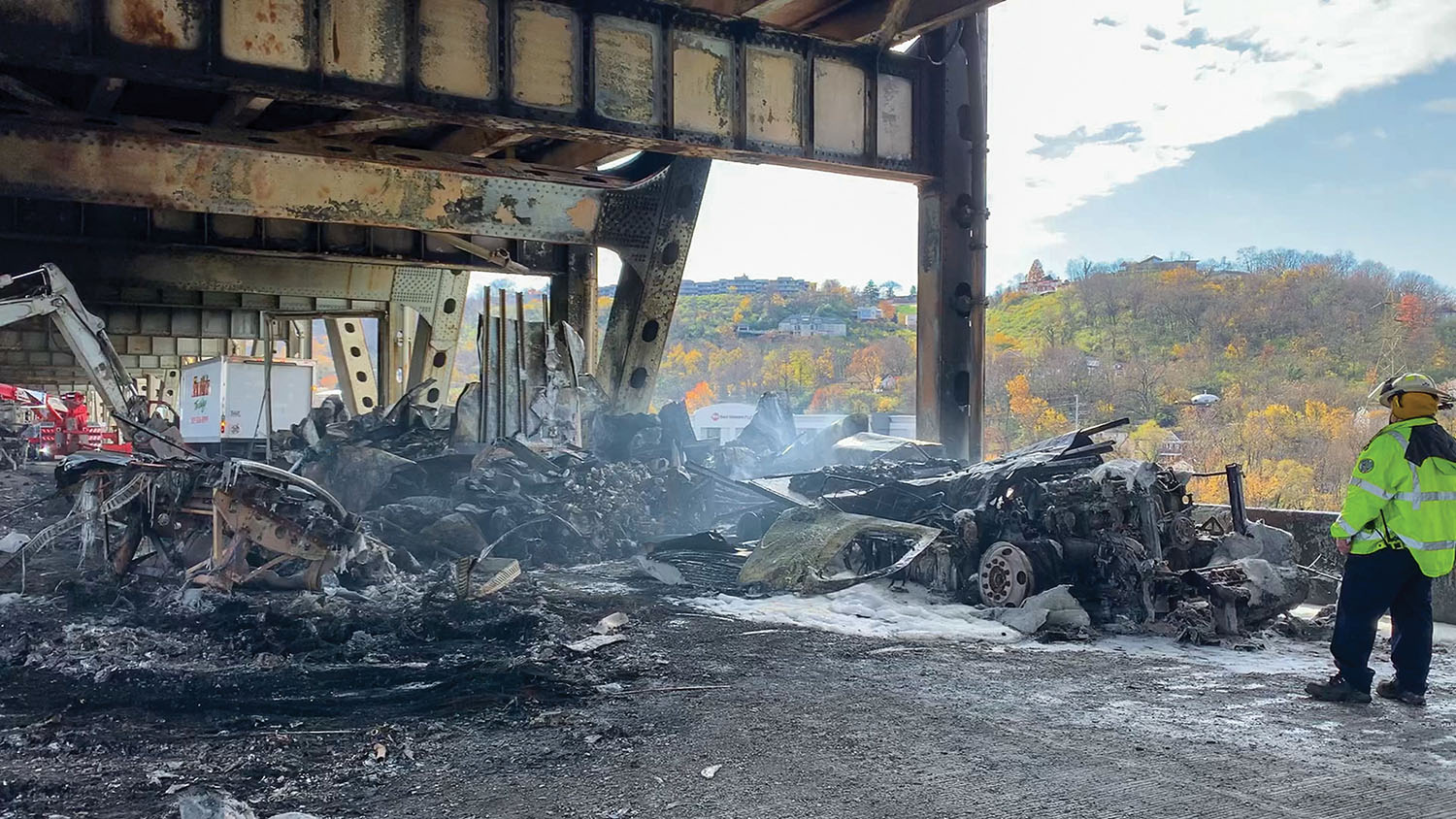 Cincinnati Feels Impact Of Bridge Closure After Fiery Wreck