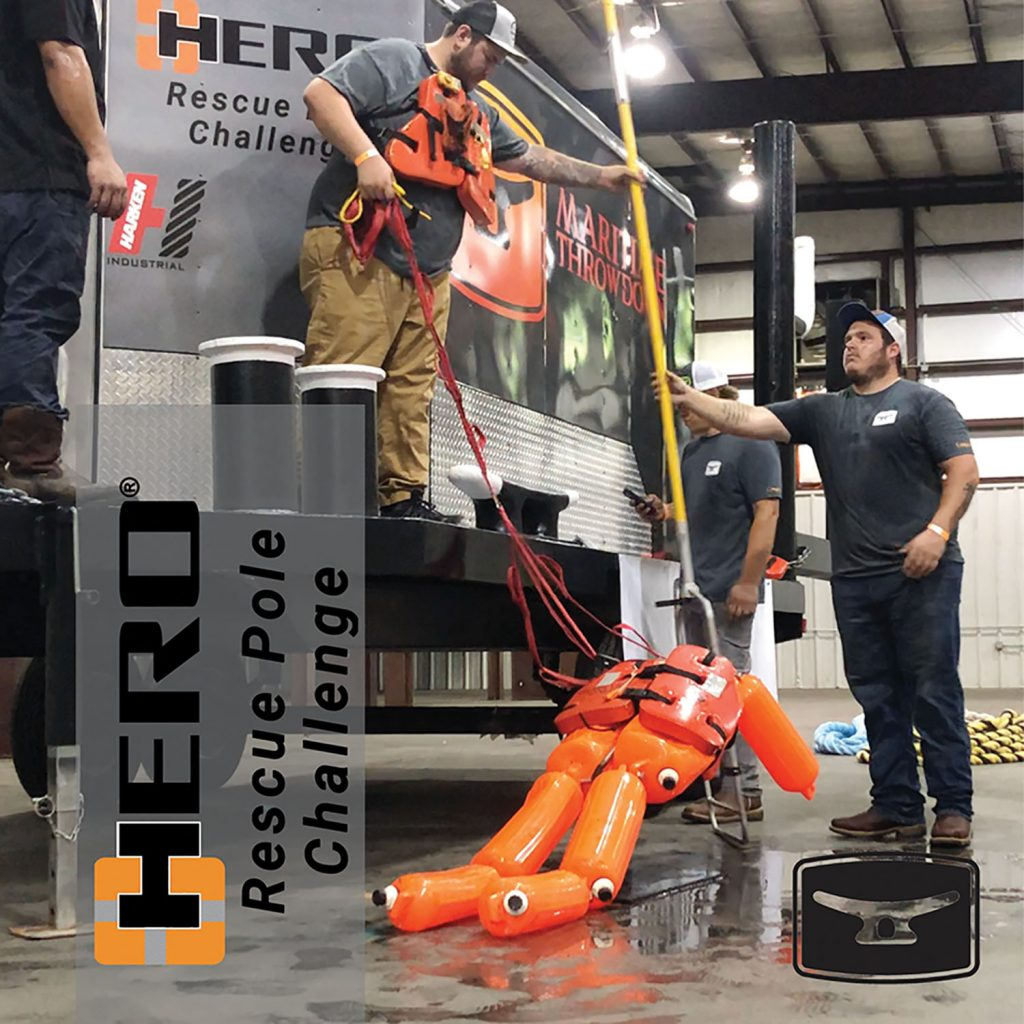 C-Hero Rescue Pole in use during recent Maritime Throwdown.