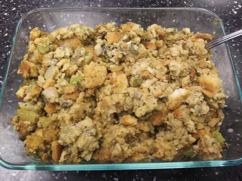 Oyster stuffing.
