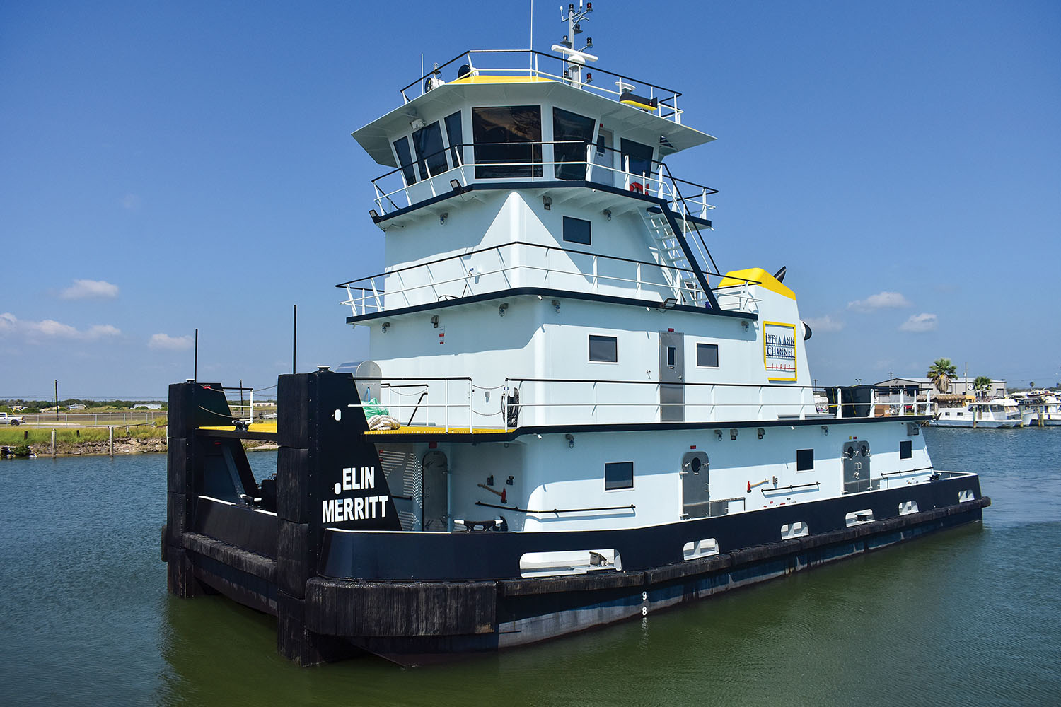 Lydia Ann Channel Fleet christened four towboats in an October 16 ceremony, including the mv. Elin Merrit, the first new build in the company's fleet of towboats. It was constructed by Diversified Marine. (Photo by Tracy A. Adams)