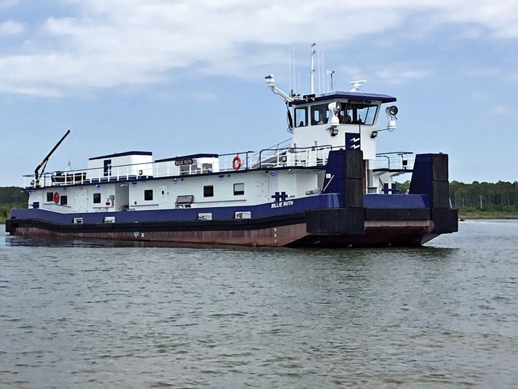 The mv. Billie Ruth was delivered in April. Both vessels are 3,600 hp. and have retractable pilothouses.
