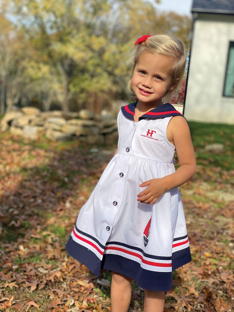 Vessel namesake Scarlett Rose Furlong, 3, is the daughter of company founder Kent Furlong. (Photo courtesy of Hines Furlong Line)