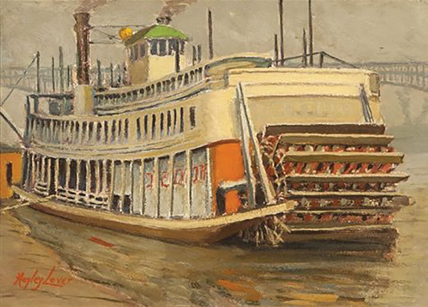 Painting of the Str. Golden Eagle at the St. Louis levee. (Photo from Keith Norrington collection)