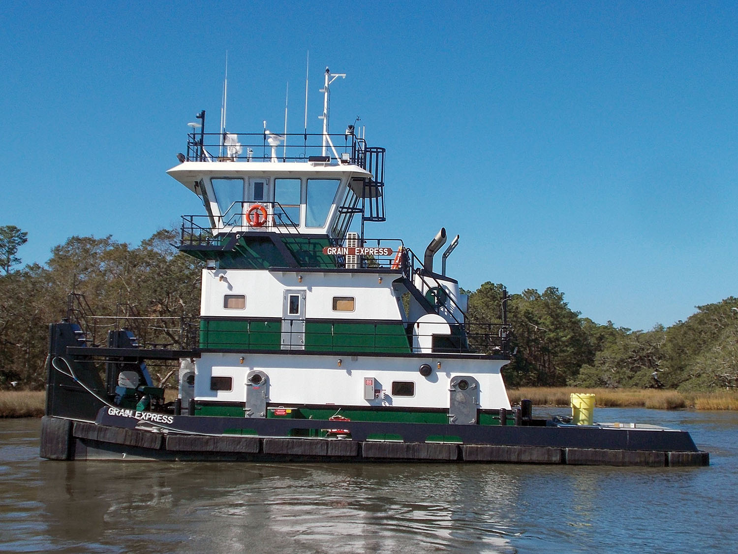 The Grain Express is the second of four towboats Master Marine is building for Plimsoll Marine.