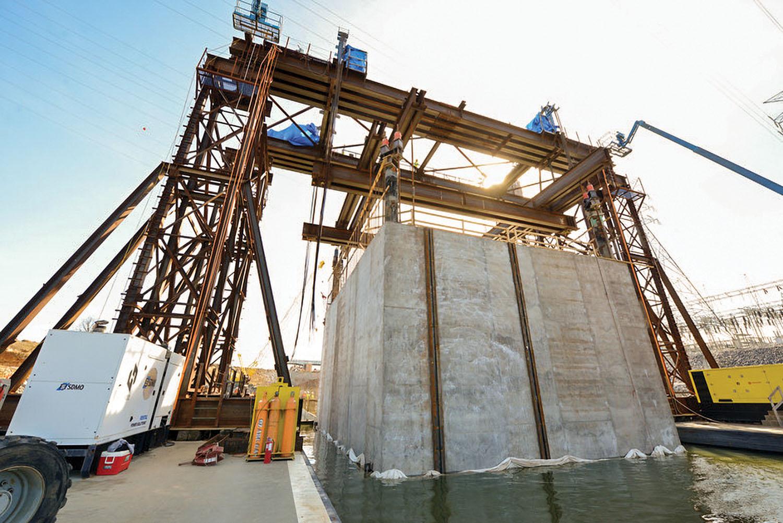 Final concrete shell placement sets project back on critical path