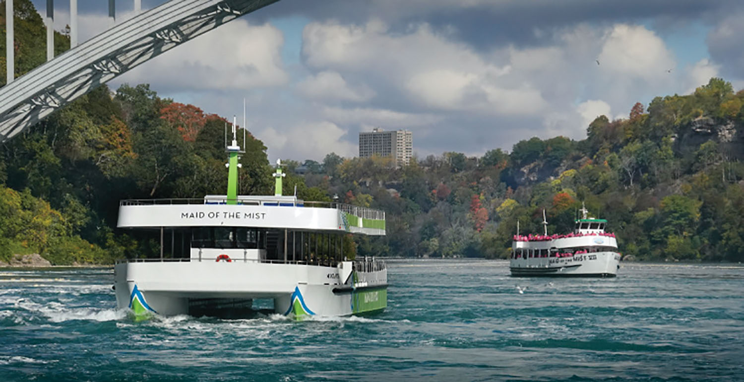 The Maid of the Mist, which provides passenger ferry tours at Niagara Falls, put a pair of electric ferries into service in October. ABB supplied and integrated the battery packs aboard the vessels and supplied the propulsion design, including the onshore charging system.