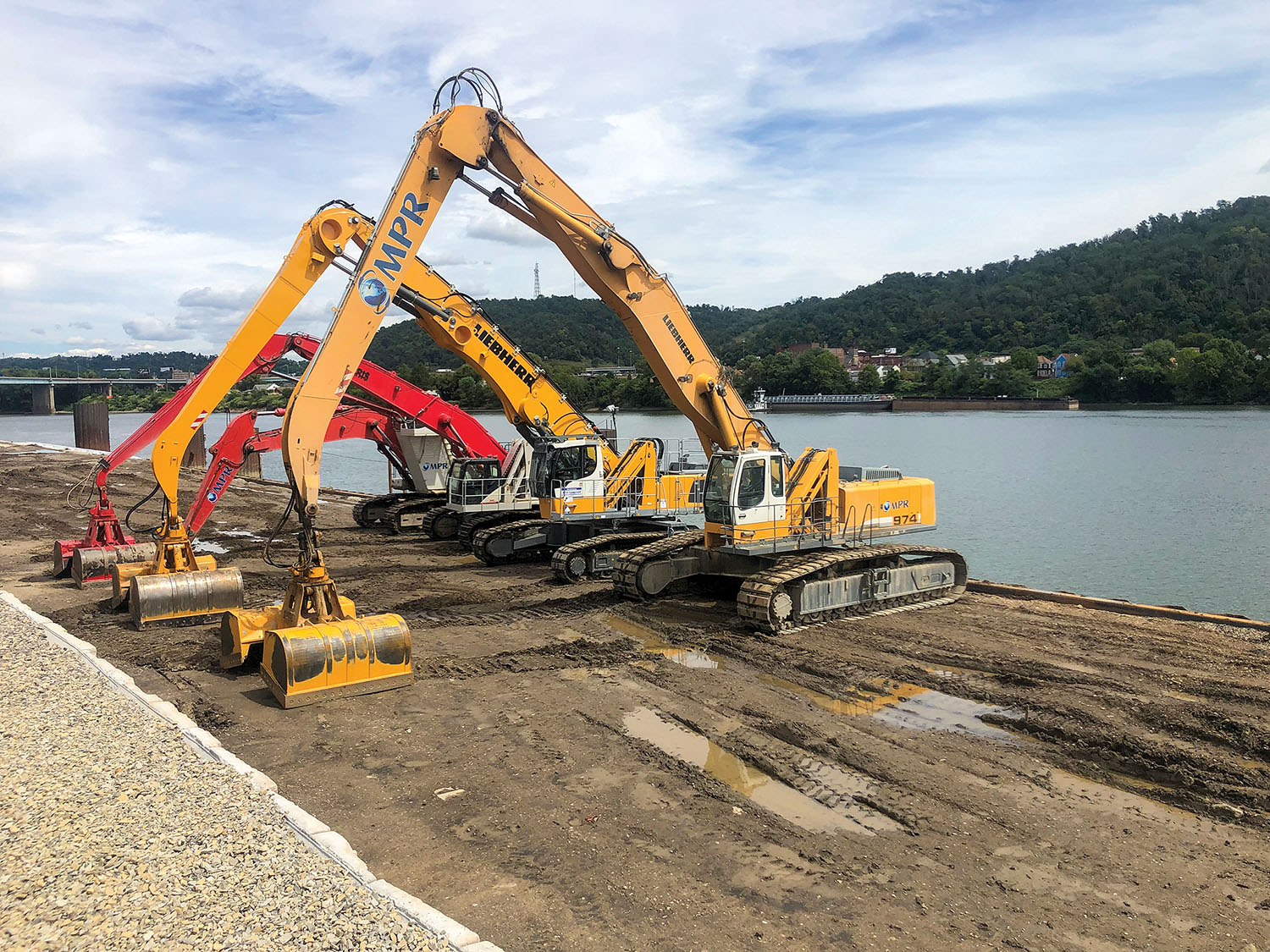 A 2019 equipment and harbor expansion at MPR Supply Chain Solutions included extending the dock to 850 feet for additional unloading capacity. (Photo courtesy of MPR Supply Chain Solutions)
