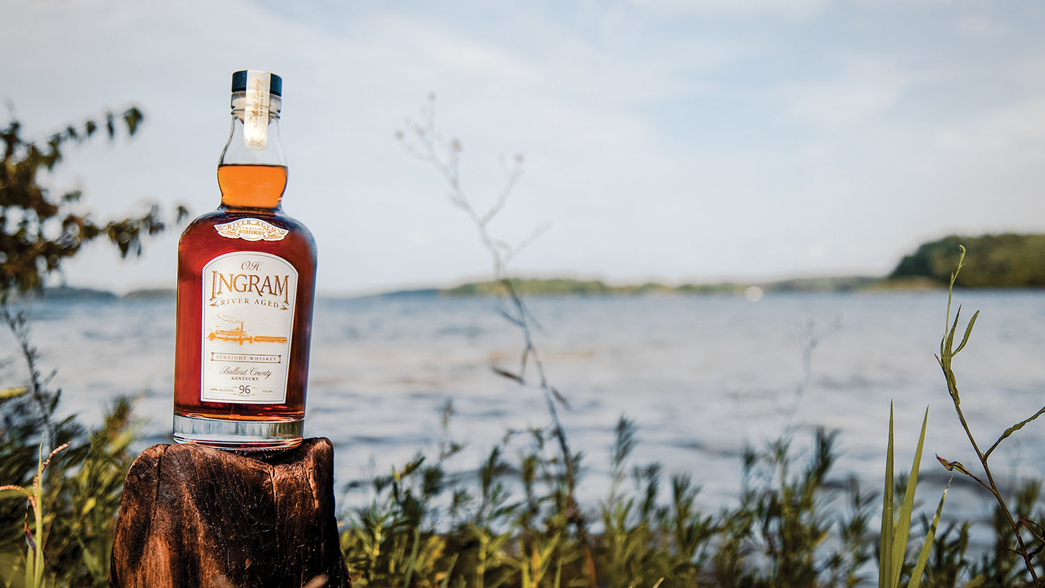 O.H. Ingram River-Aged Whiskey.