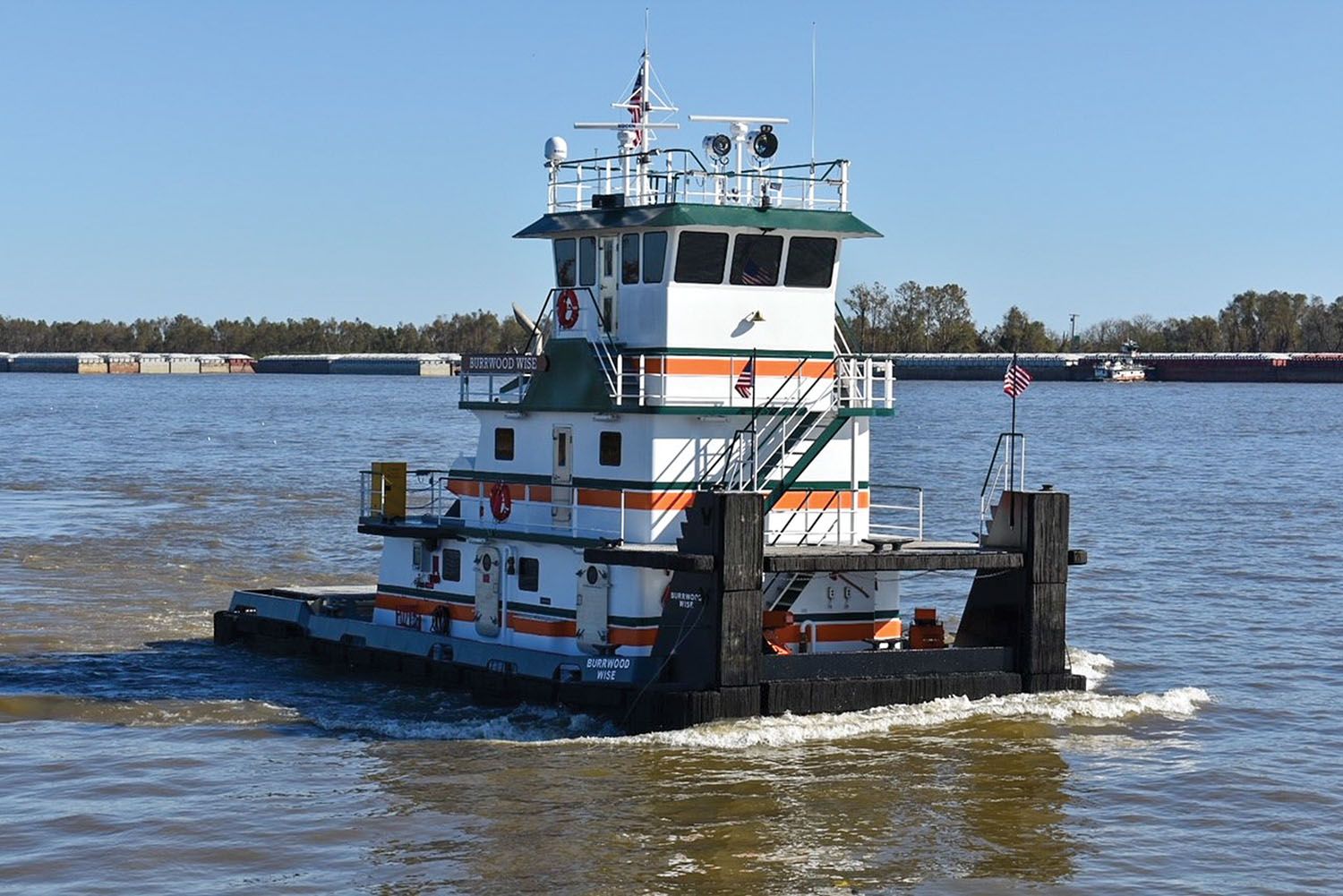 The mv. Burrwood Wise draws its name from the town of Burrwood, La., hometown of Dan Wise, Gnots Reserve Inc.'s president and owner.
