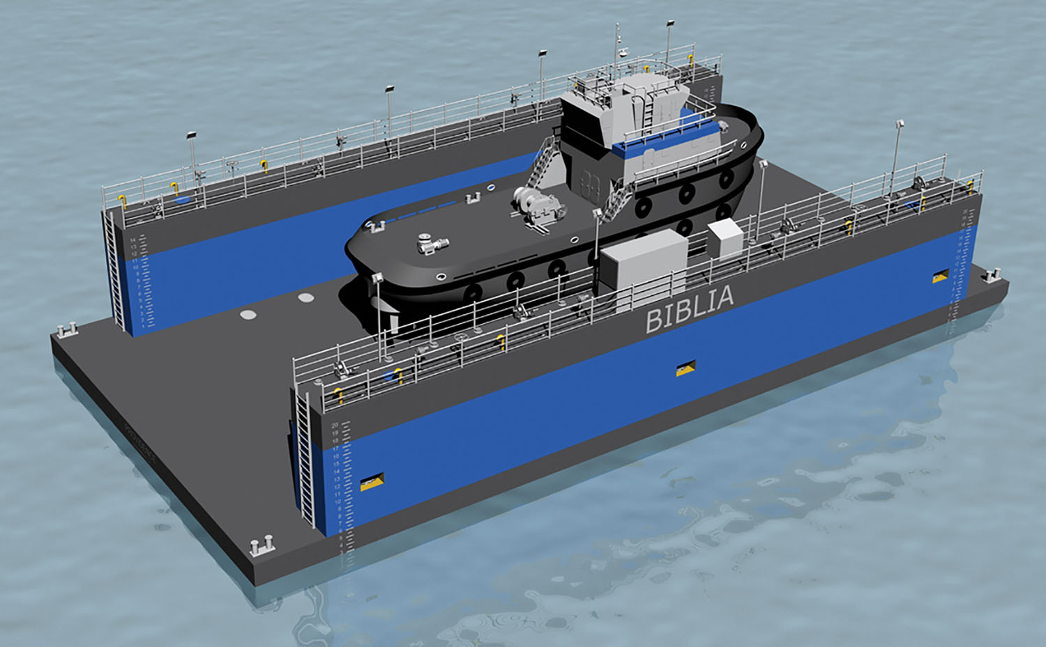 JMS Naval Architects designed the 500-ton drydock, which is scheduled to be delivered this spring.