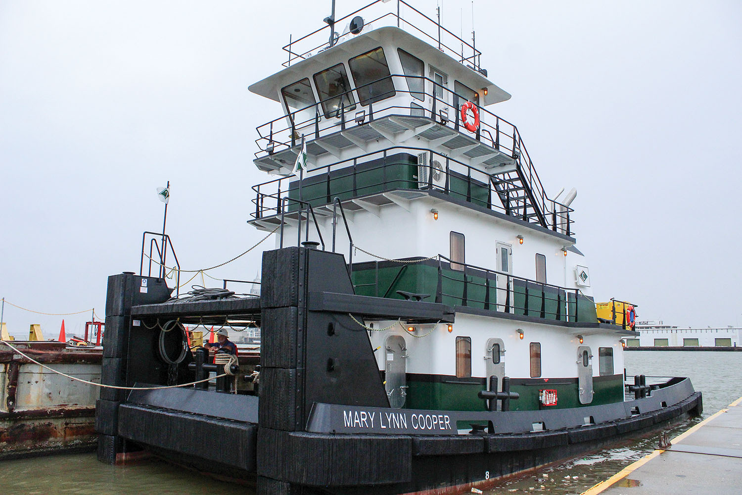 The 1,600 hp. mv. Mary Lynn Cooper is the first of two towboats that Blakeley BoatWorks is building for Cooper Marine & Timberlands Corporation.