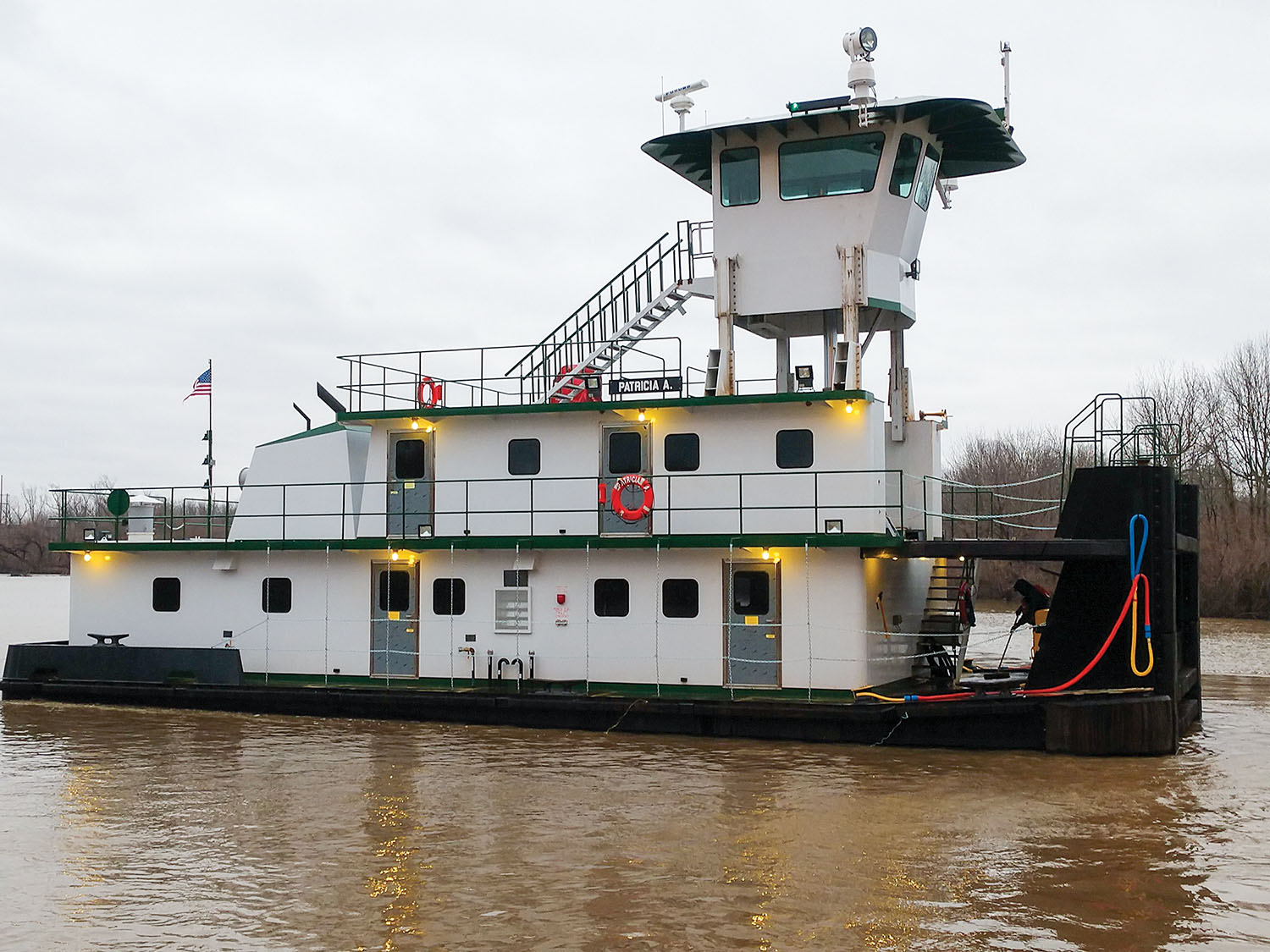 The Patricia A was built by Barbour JB Shipyard for Southern Illinois Transfer.