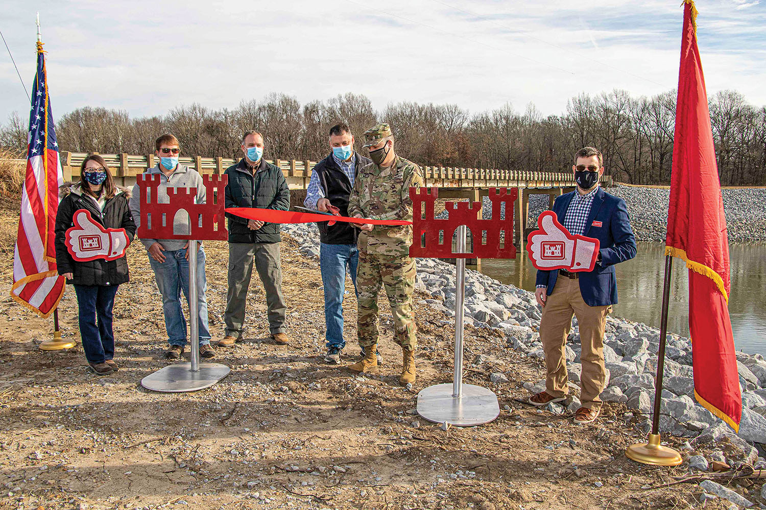 Memphis Engineer District Cuts Five Ribbons In One Day