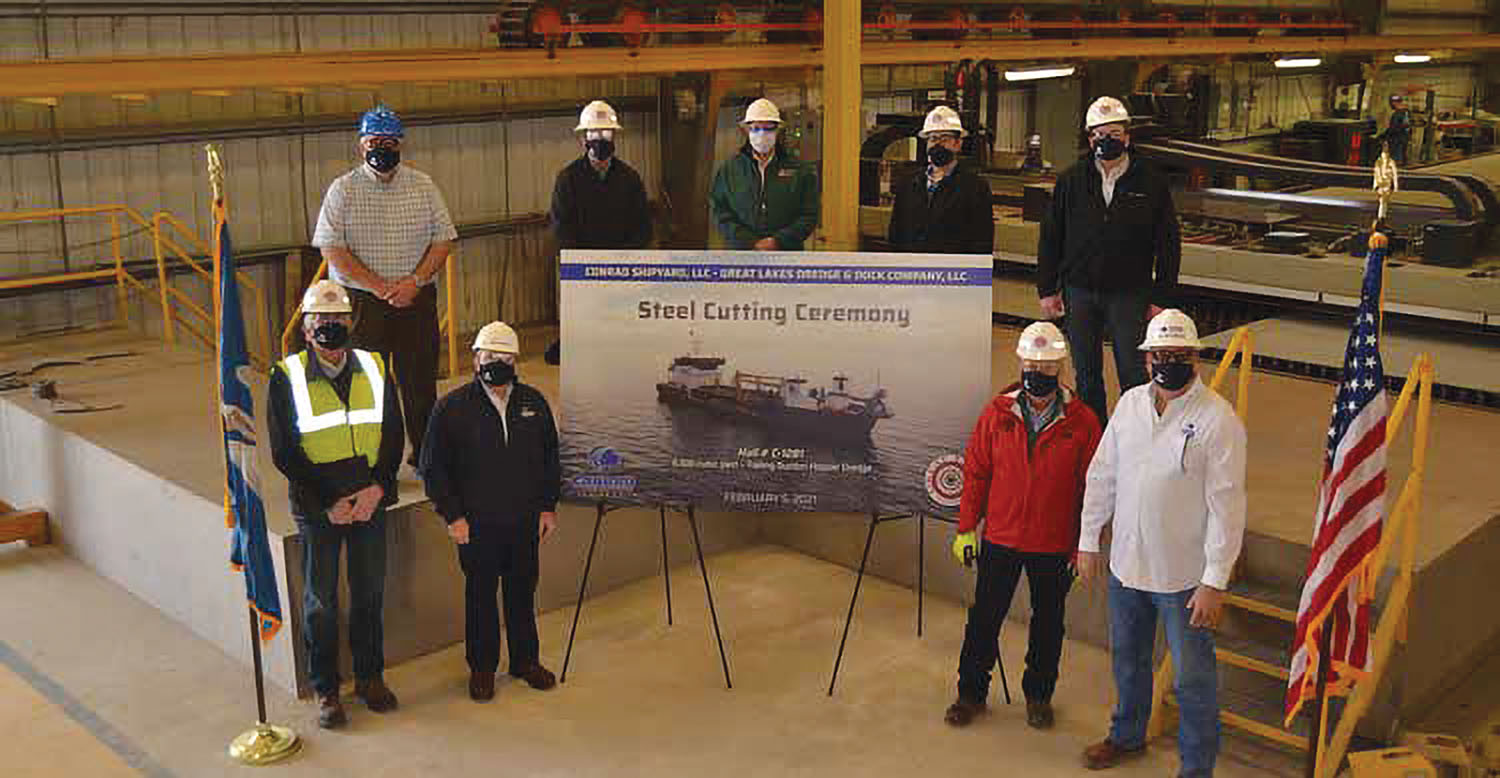 Conrad Marks Start Of Construction Of GLDD Hopper Dredge