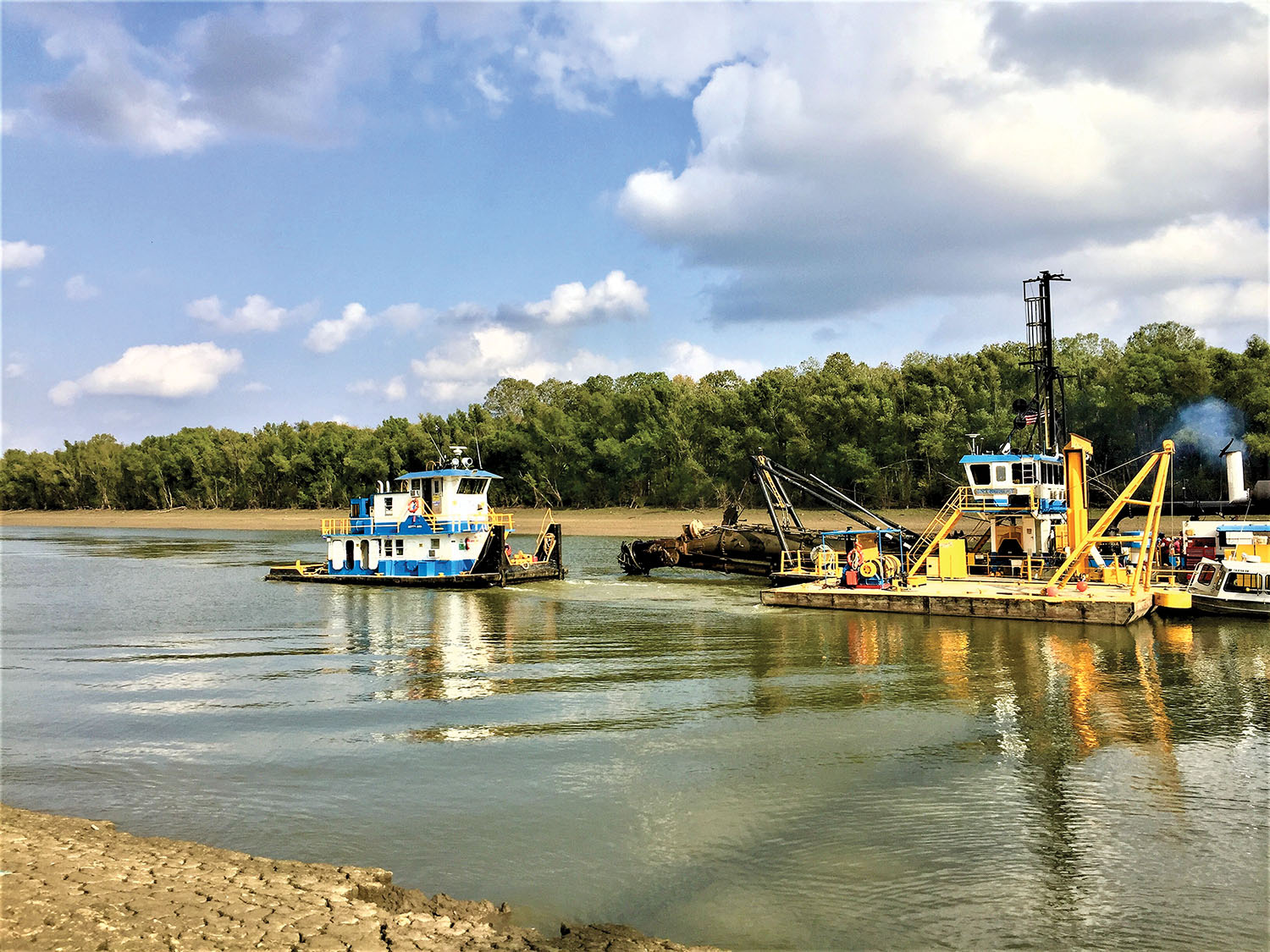 Dredging in Helena Harbor.